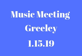 Songs From The Greeley Music Meeting