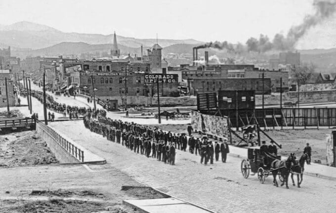 A historical photo of Ludlow, Colorado. Photo credit: Denver Public Library