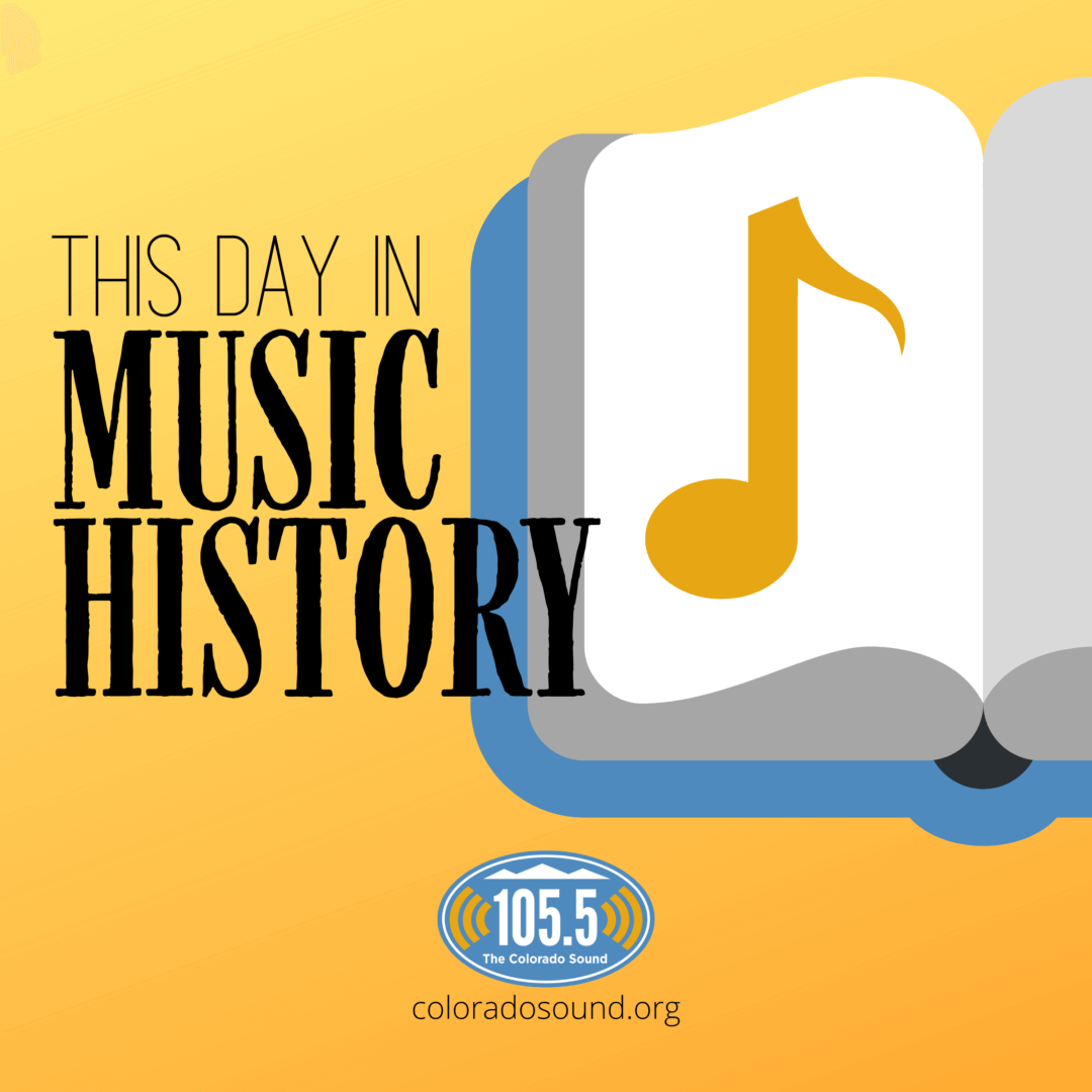This Day In Music History logo, featuring a book with a musical note.