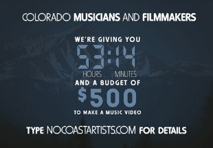 Apply to be a part of the 53:14 Music Video Experiment