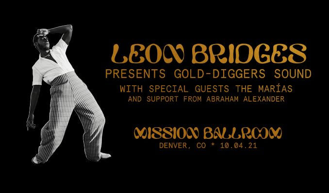 leon bridges mission ballroom denver colorado
