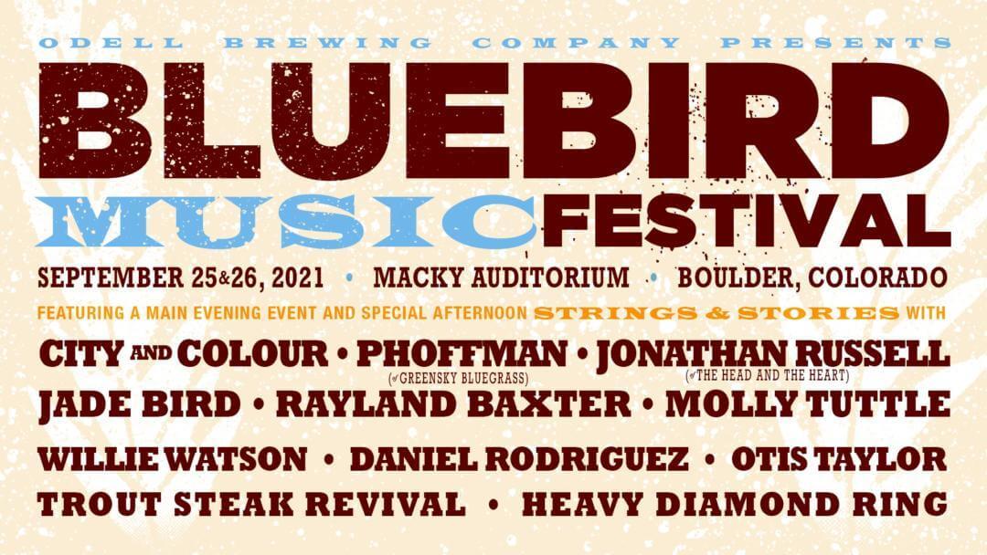 bluebird music festival 2021 updated lineup boulder colorado