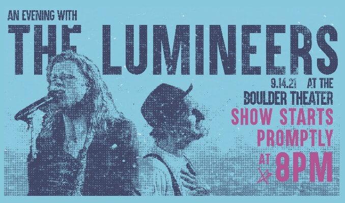 lumineers show boulder theater colorado sept 14