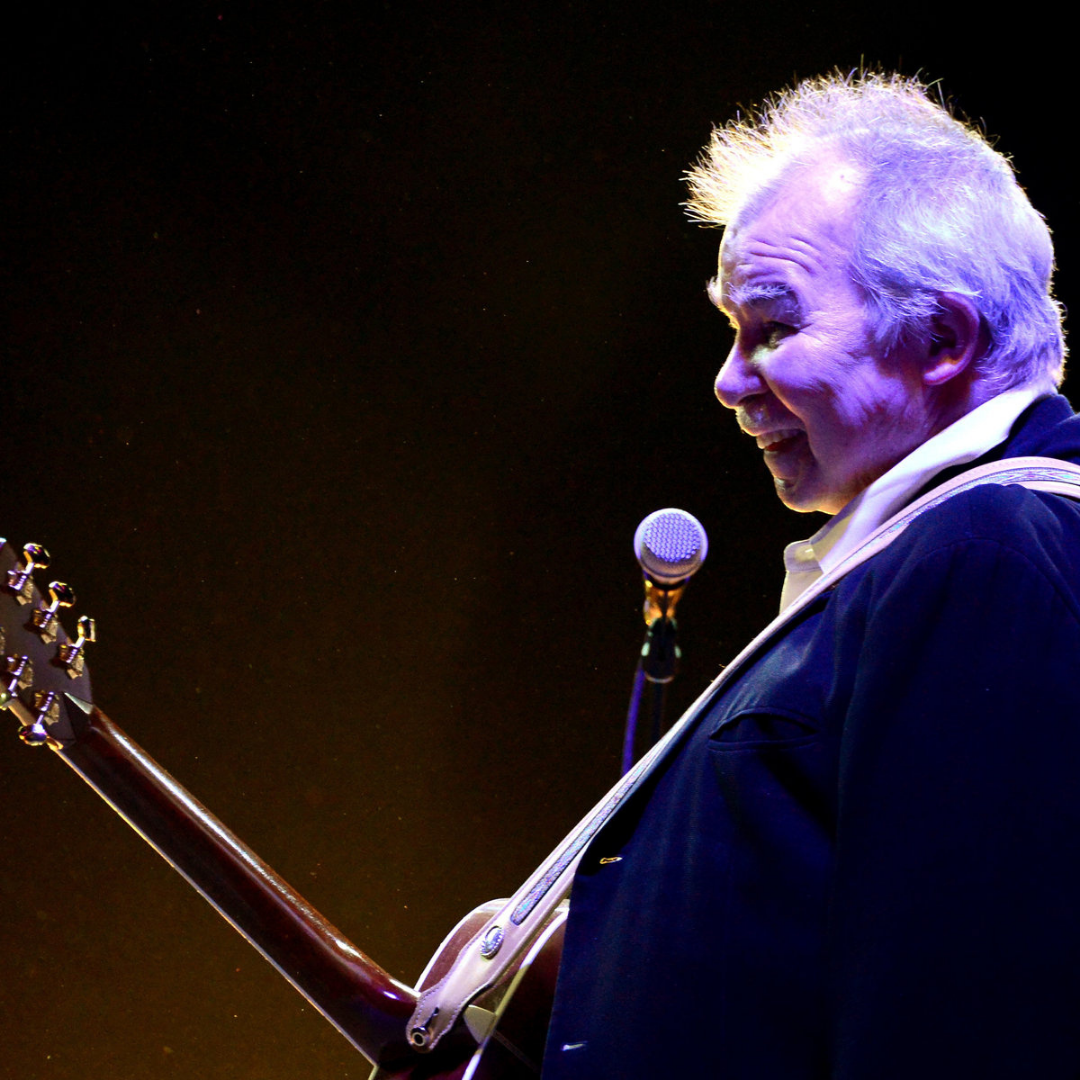 John Prine, October 10, 1946 – April 7, 2020, was an influential American songwriter and folk, bluegrass, and Americana musician. His influence on generations of musicians is profound, and he has penned some of the greatest lyrics in the American music canon.